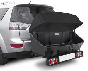 Menabo Nekkar schwarz Transportbox Gepäckbox für Kupplungsträger Heckträger 300 Liter