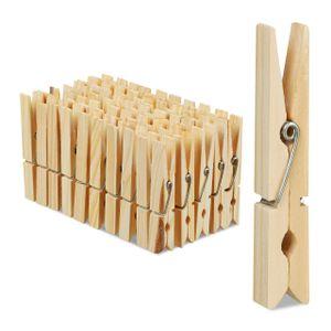 relaxdays Wäscheklammern Holz 100er Set