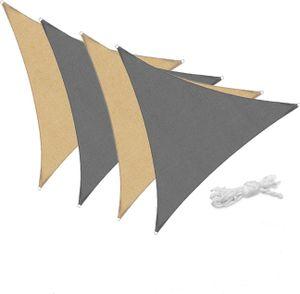 Sonnensegel 3 x 3 x 3m Dreieck Grau Sonnenschutz Sonnendach Windschutz UV Schutz Hitzeschutz Beschattung Atmungsaktiv Sichtschutz Balkon Terrasse Garten