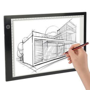 LED Licht Pad A4 Leuchttisch Leuchtplatte Tragbare Light Pad mit USB Kabel und Skala für Designen Zeichnen Animation Malen Skizzierung