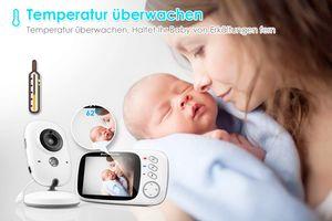 "Babyphone mit Kamera, Video Überwachung Baby Monitor Wireless 3.2"" TFT LCD Digital dual Audio"