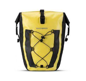 ROCKBROS Pack- Gepäckträgertasche Fahrradtasche 100% Wasserdicht 27L, gelb/schwarz