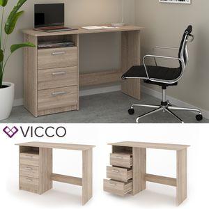 VICCO Schreibtisch MEIKO Sonoma Eiche Arbeitstisch Bürotisch Regal PC Tisch