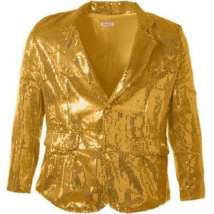dressforfun Pailletten-Jackett Herren - gold, XXL