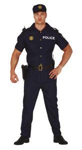 Fiestas Guirca kostüm Polizei Männer Polyester blau mt M