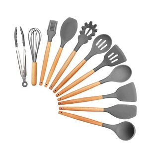 11 Stück Silikon Kochbesteck Kochlöffel Küchenhelfer Kochutensilien Set