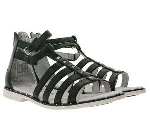 TOM TAILOR Riemchen-Sandalette funkelnde Damen Sandale Römer-Sandaletten Schwarz, Größe:37
