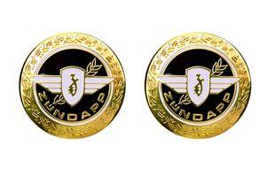 Set Zündapp Emblem Motiv 'Lorbeer' in Gold, Schwarz für den Tank