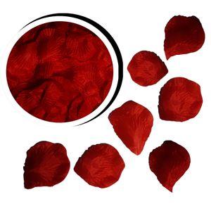 1000 Rosenblätter Rosenblüten Hochzeit Blütenblätter Streudeko Tischdeko (Rot)