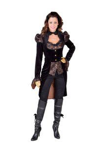 Magic Design jacke Steampunk Damen Polyester schwarz Größe XXL