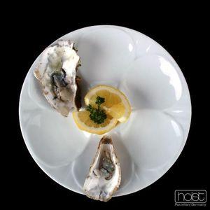 Holst Porzellan/Germany, Porzellan Austernteller 23 cm für 6 Austern, weiß, PLA 023
