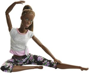 Barbie Made to Move Puppe (brünett mit Afro-Style)