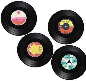 Vinyl Schallplatten Untersetzer 4er Set