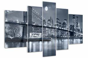 Tulup Bild Acrylbild 5 Teile 170x100 cm Wandkunstdrucke - Manhattan New York.