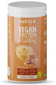 PROTEIN PUDDING KARAMELL Vegan 500g - 83,4% Eiweiß - 113 Kalorien - Low Sugar Dessert - Karamell Geschmack - Karamelpudding - Laktosefrei - Glutenfrei