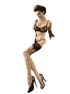 halterlose struempfe Ballerina  174 Schwarz Stockings Damenstruempfe , Größe:L/XL - (40/42)