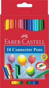 FABER-CASTELL Fasermaler CONNECTOR PEN 10er Etui