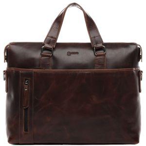 BACCINI Laptoptasche LEANDRO Natur-Leder braun-cognac Businesstasche Laptoptasche