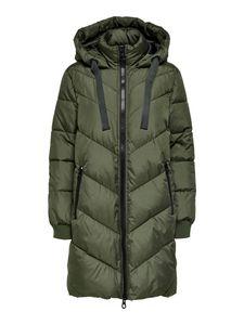 JDY Damen Wattierte Winterjacke Parka Steppjacke Kapuze JDYSKYLAR Padded Hood, Farben:Grün, Größe:38