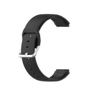 19mm Silikon Armband Armband Armband Ersatz in Schwarz für Xiaomi Haylou Solar LS02 / LS01 ID205 Willful IP68 Smart Watch