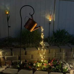 Garten Licht Stern Dusche Gießkannen Kunst Lichterketten Wasserfall Lichter für Party, Zuhause(Kein Halterung)