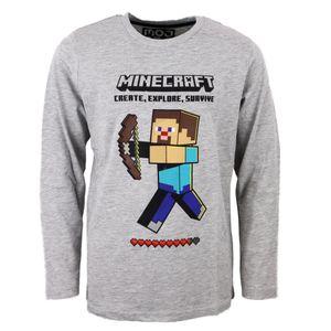 Minecraft Steve Gamer Kinder langarm Shirt Gr. 134