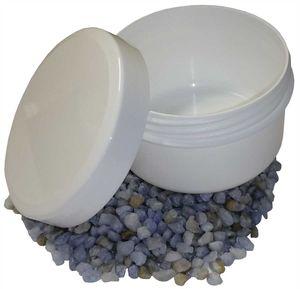 50 Salbenkruken Homöopathie Kunststoffdosen 50 g 60 ml  Flach Deckel weiß