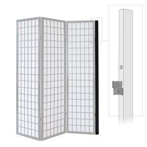 Homestyle4u 1107, Wandhalterung Wandhalter für Paravent, Wandbefestigung für Raumteiler, Schwarz
