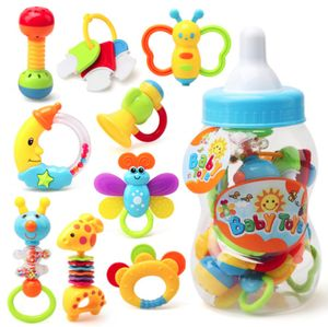 9 stk Baby Spielzeug Motorik Rasseln Greiflinge Rassel Babyrassel NEU