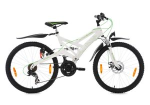 Jugendfahrrad Mountainbike ATB Fully 24 Zoll 4Masters