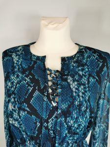 Aniston Partykleid, blau bedruckt, Gr. 46