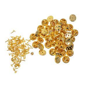 50 Stücke Schmetterling Kupplung Krawatte Tracks Badge Krawattennadeln mit Kupplung Rückseite für Bastel Farbe Gold