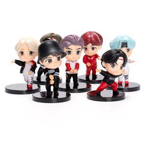 7 Stück BTS Tiny TAN Mini Sammler Action Figur Kuchen Dekoration
