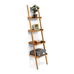 relaxdays Leiterregal Bambus 4-stufig