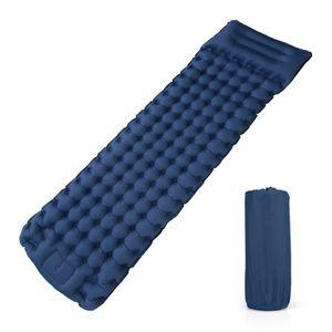 Camping Isomatte, Kompakte, Selbstaufblasende Schlafmatte mit leichtem, Feuchtigkeitsbeständigem Kissen, 200 x 69 x 10 cm,  Marineblau