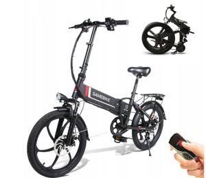 SAMEBIKE  48V 10AH 20 Zoll E-bike E-Trekkingrad Elektrofahrrad Elektrisches Zusammenklappbares Elektrofahrrad E-Bike Fahrrad Mountainbike-Schwarz
