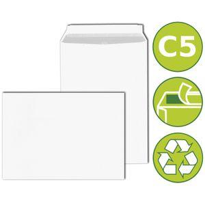 50 x Briefumschläge Kuverts DIN C5 haftklebend 162x229mm Weiß