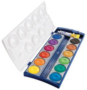 Pelikan Deckfarbkasten Schul Standard K12 12 Farben inkl. 7,5 ml Deckweiß