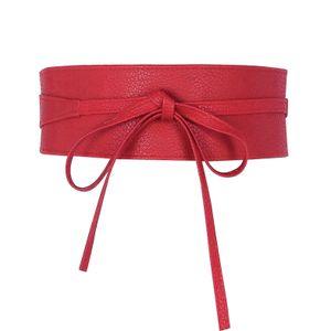 Glamexx24 Damen Gürtel Breiter Taillengürtel,Rot,18902a17