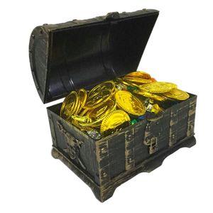 Goldmünzen Piratenschatz Piraten Schmucksteine Set Schatzsuche Schätze für Kinder Piraten-Partys