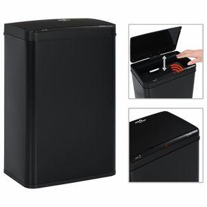 vidaXL Automatischer Sensor-Mülleimer Schwarz Stahl 60 L