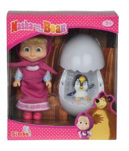 Simba Masha mit Pinguin im Ei Spielfigur; 109301003