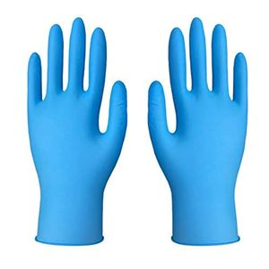 100 Stück Latex-Nitril-Einweghandschuhe Blaue medizinische Handschuhe Latexfrei Puderfreie Nitril-Untersuchungshandschuhe Hochleistungs, groß (L)