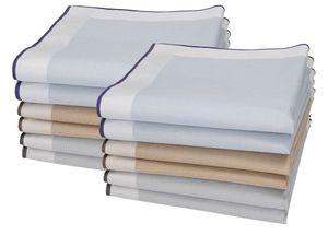 Betz 12 Stück Herren Stoff Taschentücher Set Lord 3 100%Baumwolle Größe 43x43 cm Farbe - Dessin 88