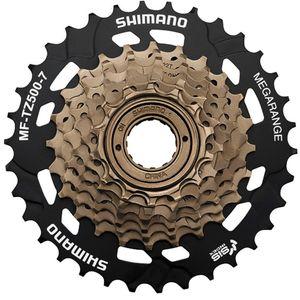 Shimano MF-TZ500 Schraubkranz 7-fach Zahnkranz Ritzel 7 Gänge Fahrrad Freilauf, Zähne:14 - 34 Zähne