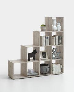 FMD Möbel MEGA 2 Raumteiler - Sandeiche - Maße: 138,5 cm x 143,5 cm x 33 cm; 248-002