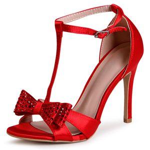 topschuhe24 1895 Damen Riemchen Sandaletten Pumps , Farbe:Rot, Größe:38 EU