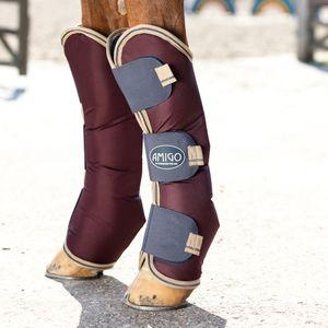 Horseware Amigo Ripstop Travel Boots - Fig/Navy, Größe:Vollblut (M)