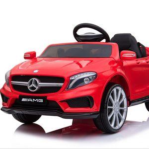 Mercedes-Benz Amg Gla45 Kinderauto 12V 2x35W  Kinderfahrzeug Kinder Elektroauto Mp3, Farbe:Rot