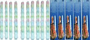 10 bunt tropfende Tropfkerzen (5 Packungen) Stabkerzen Dekokerzen Kerzen